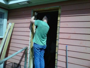 Working On the Back Door