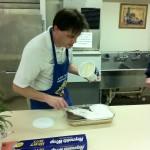 Art Barry making a wonderful dessert