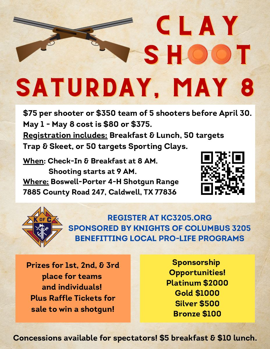 2021 Clay Shoot Flyer